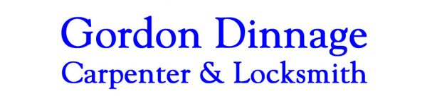 Current header logo Gordon Dinnage Carpenter & Locksmith